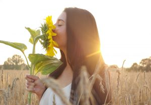 Trauma Therapy: Woman Sunflower